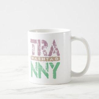 Hashtag TRANNY - Love Rebuilt Transmissions, Plum Basic White Mug