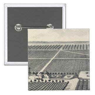 Hastie Vineyard, California 15 Cm Square Badge