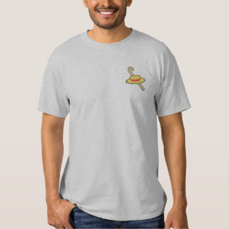 Hat and Cane Embroidered T-Shirt