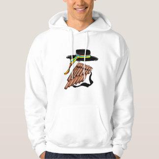 hat black pan flute ribbon music design.png hoodie