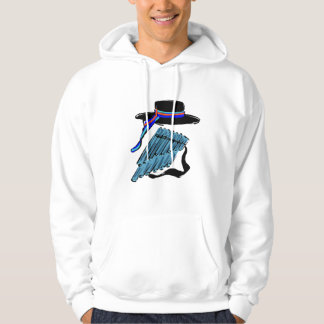 hat blue pan flute ribbon music design.png hooded pullover