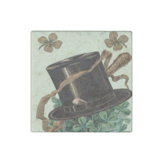 Hat Clay Pipe Shamrock Four Leaf Clover Shillelagh Stone Magnet