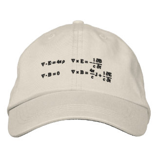 Hat, embroidered, Maxwell's equations Embroidered Hats