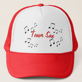 Hat - Musical Instrument Text in Red