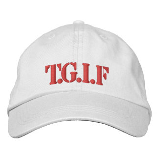Hat-T.G.I.F-RED DESIGN Embroidered Hats