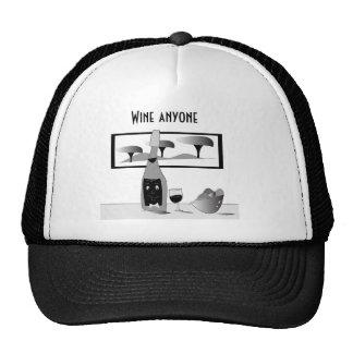 "Hat ""Wine anyone"""