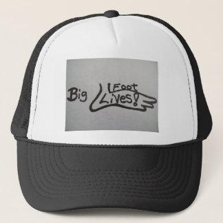 Hat with bigfoot design:BIGFOOT LIVES!