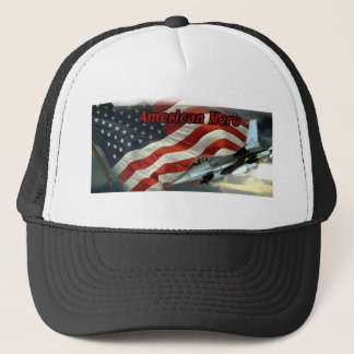 Hat with flag and Fighter  jet for heroes