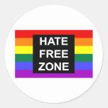 Hate Free Zone Round Sticker