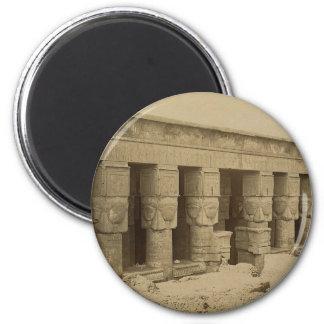 Hathor Temple, Egypt circa 1867 Magnet