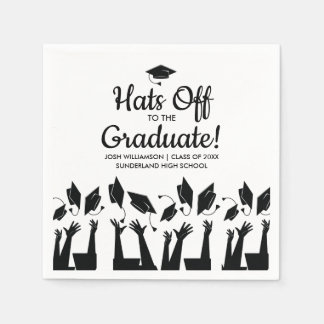 Hats off to the Graduate Photo Graduation Party Disposable Napkins
