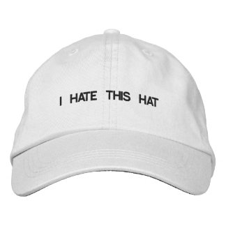 Hats with attitude embroidered baseball caps