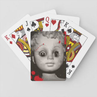 haunted doll playing cards