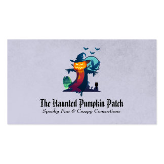 Haunted Halloween Pumpkin Head Scarecrow Spooky Pack Of Standard Business Cards