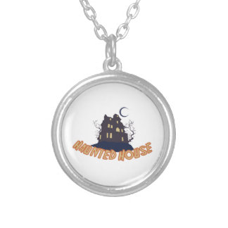 Haunted House Round Pendant Necklace