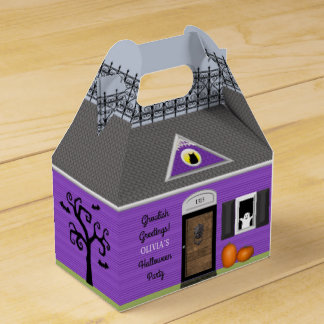 Haunted House Personalised Halloween Favour Box