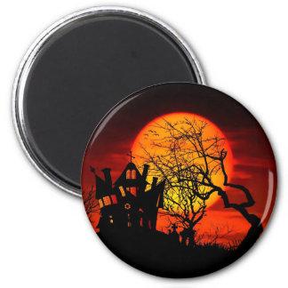HAUNTED NIGHT, HAUNTED HOUSE! (Halloween) ~ Magnet