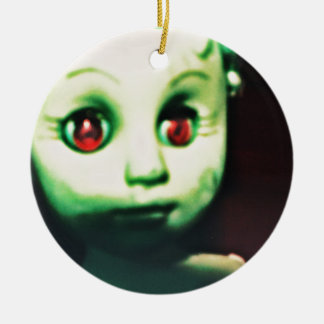 haunted red eyed doll products christmas ornament