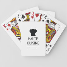 Haute Cuisine French Chef Cooking School Card Deck