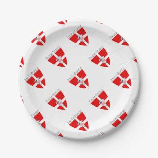 Haute-Savoie Cow Paper Plate
