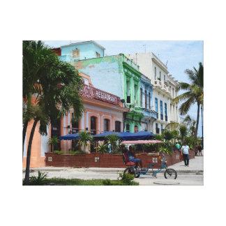 Havana Cuba Architecture near Malecon Canvas Print