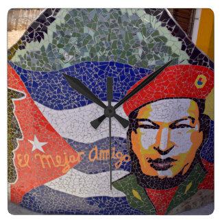 Havana Cuba Cuban Art Square Wall Clock