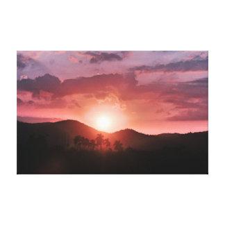 Havana Sunset Canvas Print