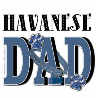 Havanese DAD Standing Photo Sculpture