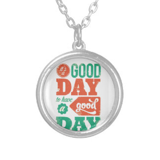 HAVE A GOOD DAY - Multicolor Graphic Greeting GIFT Round Pendant Necklace