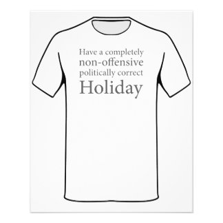 Have a Politically Correct Holiday Flyer