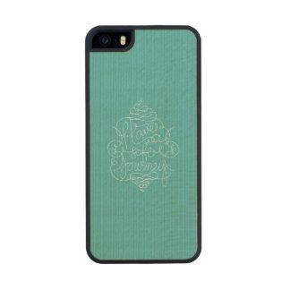 Have a Safe Journey Carved® Maple iPhone 5 Slim Case