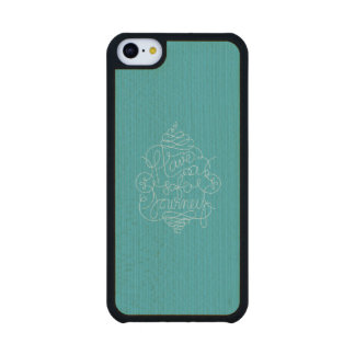 Have a Safe Journey Carved® Maple iPhone 5C Case