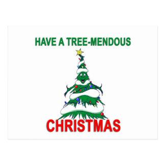 Have a Tree-Mendous Christmas Postcard