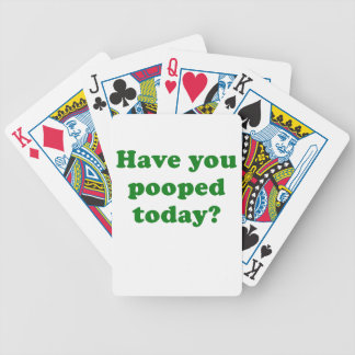 Have you Pooped Today Bicycle Playing Cards