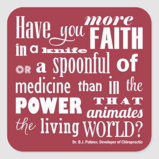 Have Your More Faith Quote Chiropractic Stickers