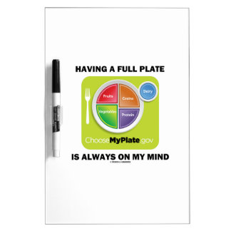 Having A Full Plate Always On My Mind Food Groups Dry Erase Board
