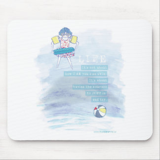 Having Courage Quote | Mousepad