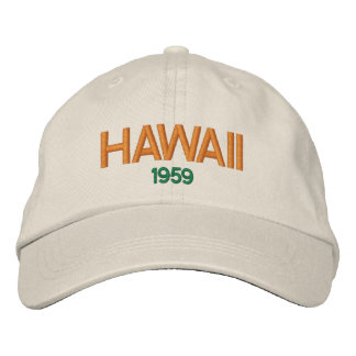 Hawaii 1959 Statehood Hat' Embroidered Hat