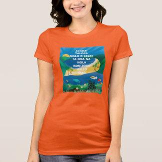 Hawaii Aloha Oahu Island Turtle T-Shirt