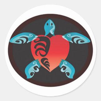 Hawaii Aloha Turtle Classic Round Sticker