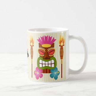 Hawaii Cartoon Illustration Basic White Mug