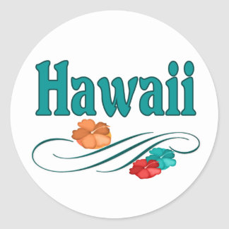 Hawaii Classic Round Sticker