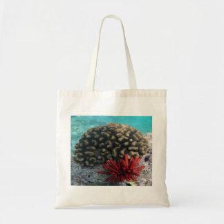 Hawaii Coral and Sea Urchin Budget Tote Bag