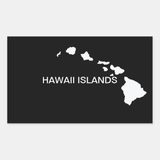 Hawaii Eight Islands Rectangular Sticker