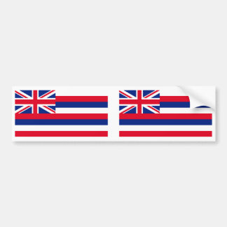 Hawaii Flag Bumper Sticker