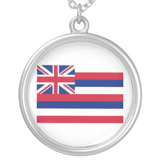 Hawaii Flag Silver Plated Necklace