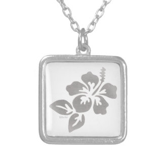 Hawaii Flower Silver Plated Necklace