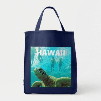 Hawaii Green Sea Turtle Grocery Tote Bag