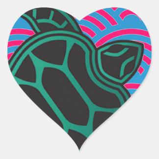Hawaii Green Sea Turtle Heart Sticker