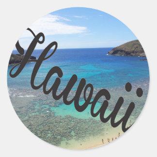 Hawaii Hanauma Bay Oahu Island Round Sticker